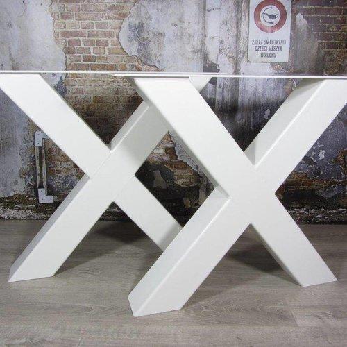 Zware industriële tafelpoten wit