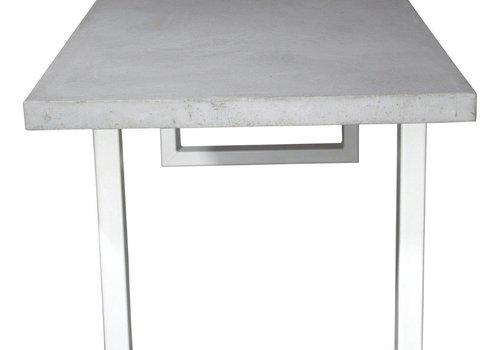 Betonnen tafel met standaard witte U poten