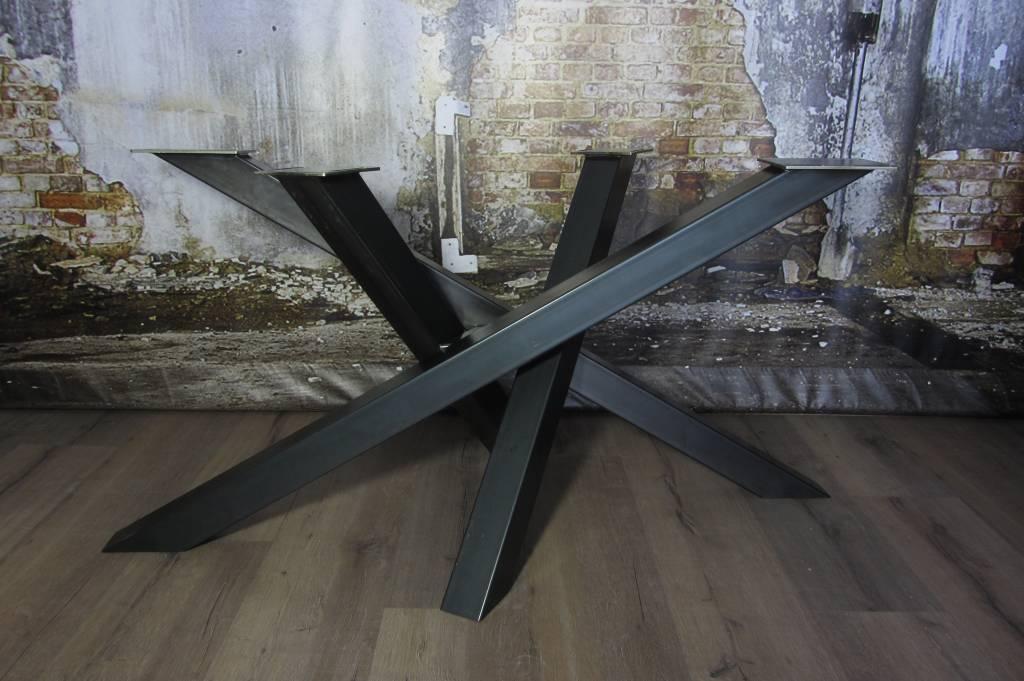 Industrieel Tafel Onderstel : Handgemaakte industriele tafelpoten model twist tafelonderstel