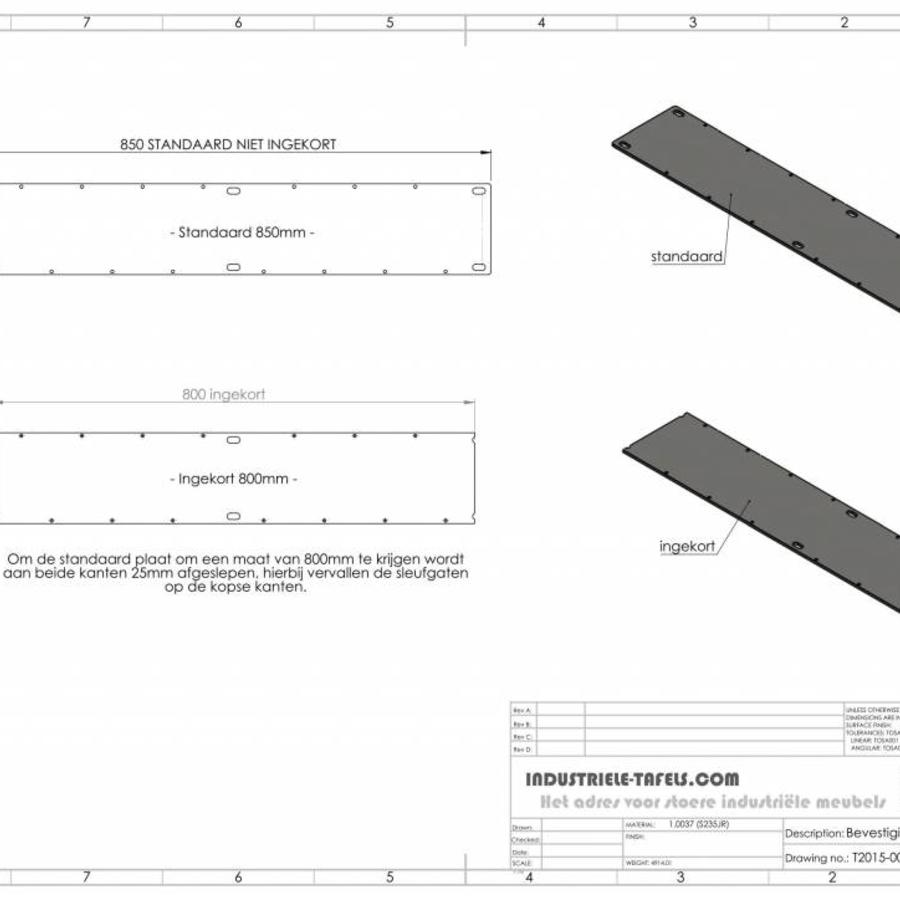Handgemaakte industrieel tafelonderstel, model X Zwaar (kruispoot) - VERZINKT