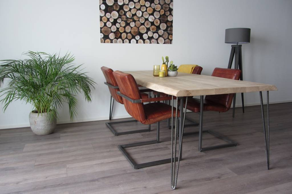 Industriele betonstaal hairpin leg - Industriele tafels