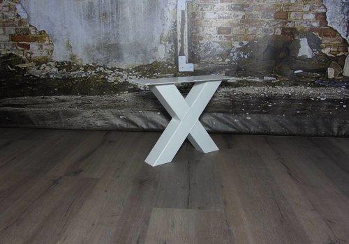 Salon X tafelpoot standaard WIT