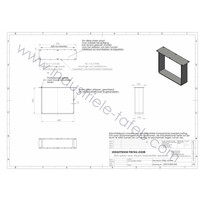Handgemaakt industrieel salontafel onderstel Strip poot Zwaar mat zwarte coating