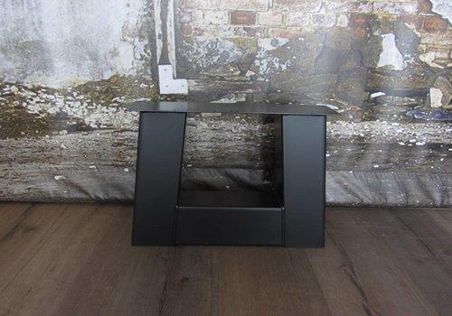 Salon Trapezium tafelpoot Zwaar zwart