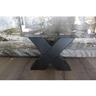 Salon X tafelpoot Zwaar zwart