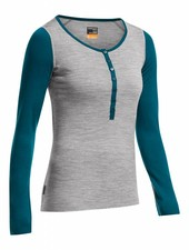 Icebreaker  ICEBREAKER W´s Oasis LS Henley - Metro Heather Night