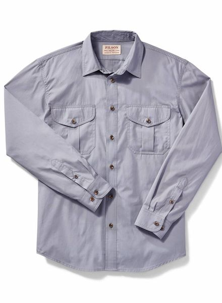 FILSON  FILSON Feather Cloth Shirt - Smoke Blue
