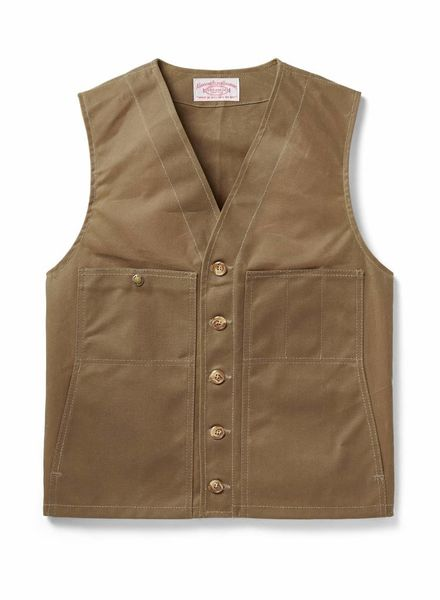 FILSON  FILSON Oil Tin Cloth Vest - Tan