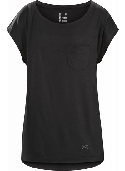Arcteryx  ARCTERYX  A2B Scoop Neck Shirt SS - Black