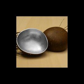 Lack Schale Coco Rund in Silber