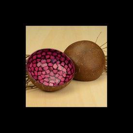 Lack Schale Coco Rund in Pink gemustert