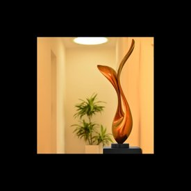 Lack Skulptur Flores in Orange