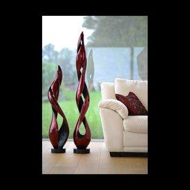 Lack Skulpturen Set Inferno in Rot