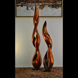 Lack Skulpturen Set Inferno in Orange