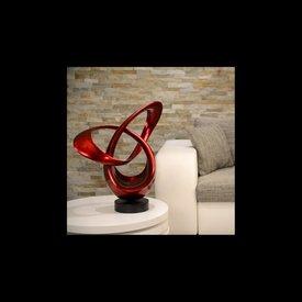 Lack Skulptur Tourdo in Rot