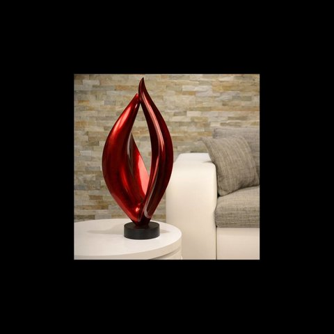 Lack Skulptur Flame in Rot
