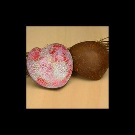 Lack Schale Coco Herz in Pink gemustert