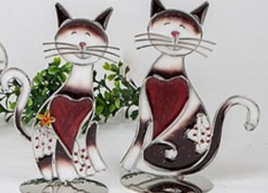 Acryl und Glas Figuren