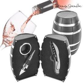 Summum Sommelier Faß mit Weinzubehör (3 Teile)