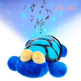 Glow Pillow Kuscheltier mit LED-Projektor,  Schildkröte,