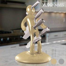 Vudú Knives Supreme Messerblock und Messerset (5 Teile),  Silberfarben,