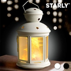 Starly LED-Laterne,  Weiß,