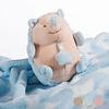 Babydecke mit Kuscheltier, Braun,
