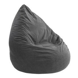 Licardo Sitzsack Microvelour in anthrazit, 90 cm hoch