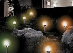 Schöne Gartenbeleuchtung