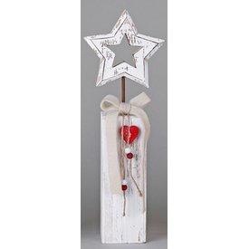Wunderschöner Dekoständer aus Holz mit Stern, 36 cm