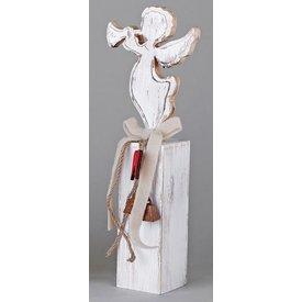 Wunderschöner Dekoständer aus Holz mit Engel, 36 cm