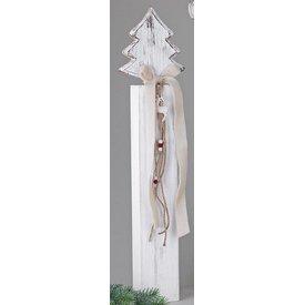Wunderschöner Dekoständer aus Holz mit Tannenbaum, 72 cm