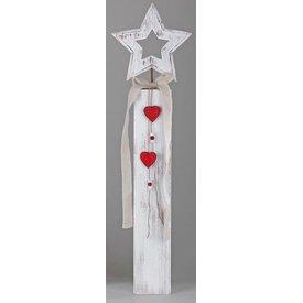 Wunderschöner Dekoständer aus Holz mit Stern, 72 cm