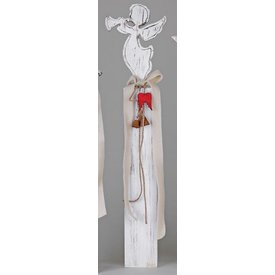 Wunderschöner Dekoständer aus Holz mit Engel, 72 cm