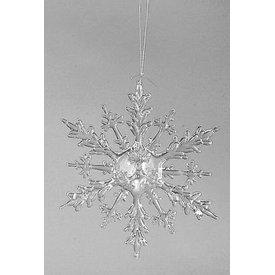 Hängedeko Eiskristall Acryl klar, 20 cm
