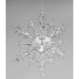 Hängedeko Eiskristall Acryl klar, 30 cm