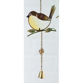 Dekohänger Vogel als Fensterbild,braun 47 cm