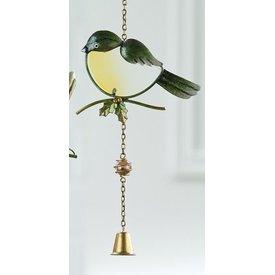 Dekohänger Vogel als Fensterbild, grün 47 cm