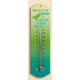 Trendiger Thermometer aus Metall, wende dich stets der Sonne zu, 27 cm