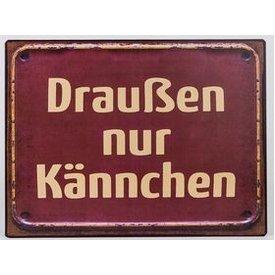 """Nostalgisches Blechschild als Wandbild mit Aufschrift """"Kännchen..."""", 35x26 cm"""