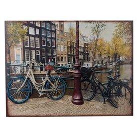Nostalgisches Wandbild Fahrrad mit 3D Effekten, 60x45 cm