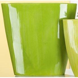 Nostalgische Pflanzschale rund, grün, 11x32x31 cm