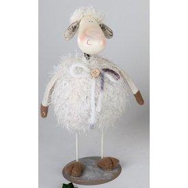 Dekofigur Wackelschaf Frieda, weiß, stehend, 30 cm