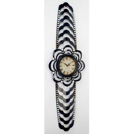 Nostalgische Wanduhr im Armbanduhrdesign 29x94 cm