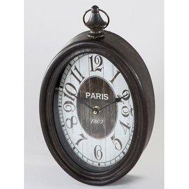 Wanduhr oval Paris, 20x34 cm im Antikstyle