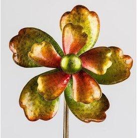 Windrad aus Metall Blume mit Stange, 25/130 cm