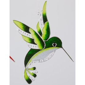 Fensterschmuck Eisvogel Tiffany grün, 25 cm