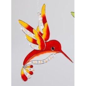 Fensterschmuck Eisvogel Tiffany orange, 25 cm