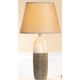 Edle Dekorations Lampe Marmoria in creme braun,, kraqueliert 42 cm