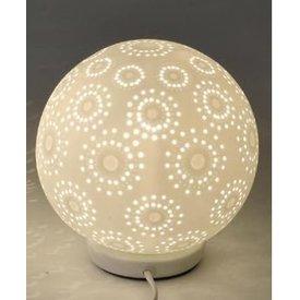 Lampe Kugel mit Kreisdesign 18 cm